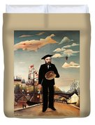 Self Portrait Duvet Cover by Henri Rousseau