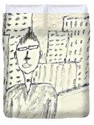 Self-portrait In Ny Duvet Cover