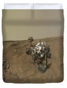 Self-portrait Of Curiosity Rover Duvet Cover