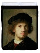 Self Portrait Duvet Cover by Rembrandt Harmenszoon van Rijn