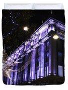 Selfridges London At Christmas Time Duvet Cover