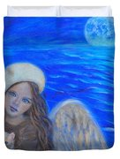 Selina Little Angel Of The Moon Duvet Cover by The Art With A Heart By Charlotte Phillips