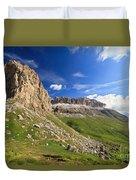 Sella Mountain And Pordoi Pass Duvet Cover