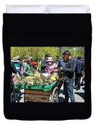 Selling Fresh Pineapple On Street In Lhasa-tibet    Duvet Cover