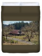 Selma Barn And Country Road Duvet Cover