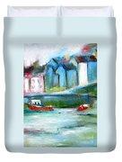 Semi Abstract Landscape Duvet Cover