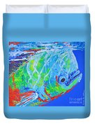 semi abstract Mahi mahi Duvet Cover
