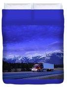 Semi-trailer Truck Duvet Cover