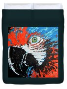 Semiabstract Parrot Duvet Cover