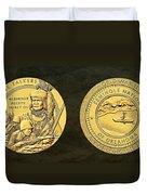 Seminole Nation Code Talkers Bronze Medal Art Duvet Cover