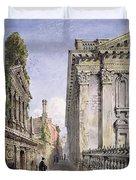 Senate House Passage, Cambridge, 1843 Duvet Cover