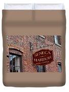 Seneca Harbor Wine Center Duvet Cover