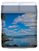 Seneca Lake At Glenora Point Duvet Cover