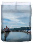 Seneca Lake Harbor - Watkins Glen - Wide Angle Duvet Cover