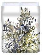 Senecio And Other Plants Duvet Cover