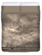 Sepia Angry Skies Duvet Cover