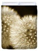 Sepia Dandelions Duvet Cover