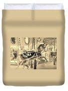 Sepia Horse Duvet Cover