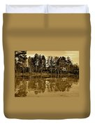 Sepia Reflection Duvet Cover