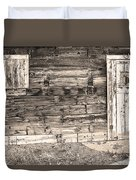 Sepia Rustic Old Colorado Barn Door And Window Duvet Cover by James BO  Insogna