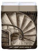 Sepia Spiral Staircase Duvet Cover