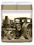 Sepia Tractor Duvet Cover