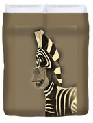 Sepia Zebra Duvet Cover