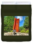 September 11th Memorial Mantua N J Duvet Cover by Nick Zelinsky