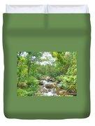 September Arrives At The Unami Creek Duvet Cover