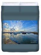 September Morning At Lyme Regis Duvet Cover