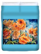 September Orange Poppies            Duvet Cover by Kathy Braud