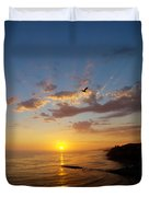 September Sunday Sunset  Duvet Cover