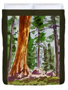 Sequoia Park - California Sketchbook Project  Duvet Cover