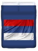 Serbian Flag Duvet Cover