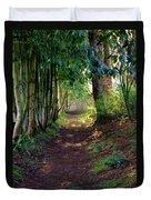 Serene Garden Path Duvet Cover