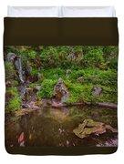 Serene Garden Pond Duvet Cover
