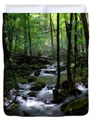 Serene Greenbrier Area Stream  Duvet Cover