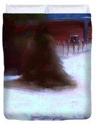 Serene New England Cabin In Winter #10 Duvet Cover