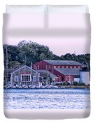 Serene Seaport Duvet Cover
