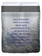 Serene Water Duvet Cover by Joseph Baril