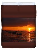 Serenity At The Bay - Sunset Duvet Cover
