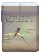 Serenity Courage And Wisdom Duvet Cover
