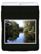 Serenity Pond Reflection At Limehouse Ontario Duvet Cover