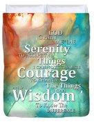 Serenity Prayer 1 - By Sharon Cummings Duvet Cover