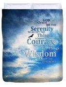 Serenity Prayer 3 - By Sharon Cummings Duvet Cover