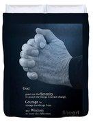 Serenity Prayer Finding Peace Duvet Cover