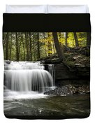 Serenity Waterfalls Landscape Duvet Cover by Christina Rollo