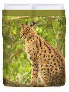 Serval Leptailurus Serval Duvet Cover
