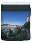 Sestri Levante And A Street Duvet Cover