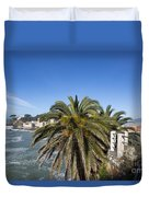 Sestri Levante And Palm Tree Duvet Cover